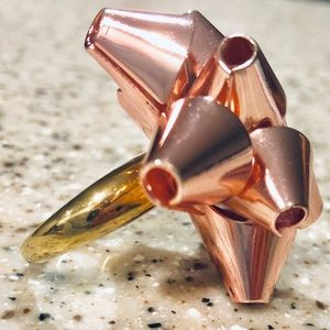 Kate Spade Bourgeois Pink Bow Ring RARE